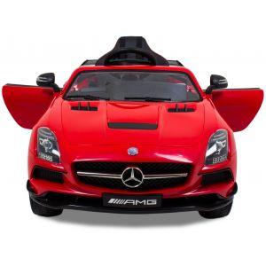 Mercedes kinderauto AMG SLS rood met videoscherm