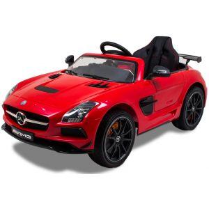 Mercedes elektrische kinderauto AMG SLS rood