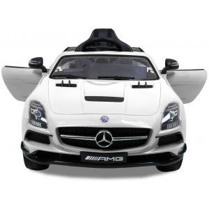 Mercedes kinderauto AMG SLS wit met videoscherm
