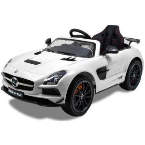 Mercedes elektrische kinderauto AMG SLS wit