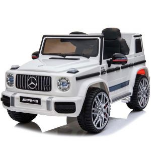 Mercedes elektrische kinderauto G63 sport cabrio wit