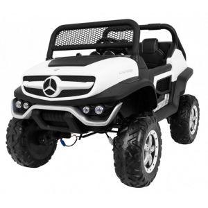 Mercedes elektrische kinderauto Unimog Mini wit