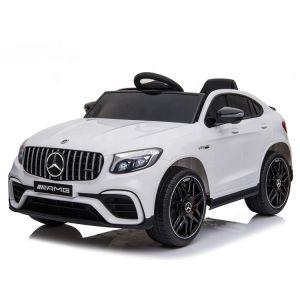 Mercedes elektrische kinderauto GLC coupe wit
