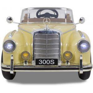 Mercedes 300s kinderauto crème voorkant koplampen