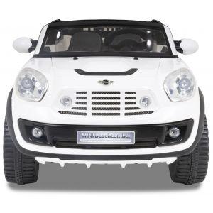 Mini Beachcomber kinderauto wit vooraanzicht koplampen grill motorkap