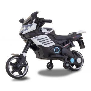 Kindermotor superbike zijaanzicht zijwielen