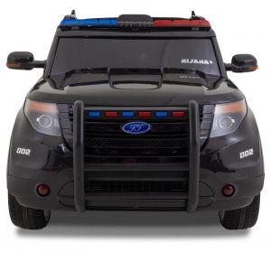 Ford Jeep politie kinderauto zwart vooraanzicht