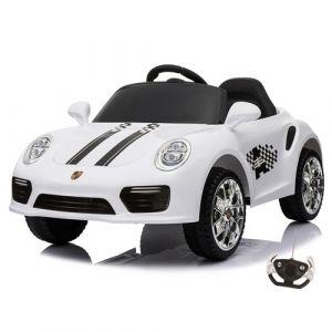Kijana elektrische kinderauto Porsche style wit