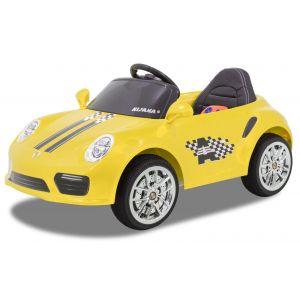 Kijana elektrische kinderauto Porsche style geel