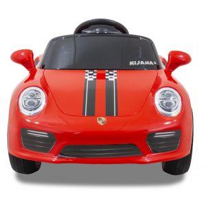 Porsche Speedy kinderauto rood vooraanzicht