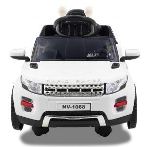 Kijana Evoque kinderauto wit voorkant motorkap zijspiegels