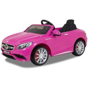 Mercedes elektrische kinderauto S63 AMG roze