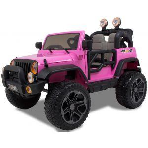 Kijana Jeep elektrische kinderauto 2 zits roze