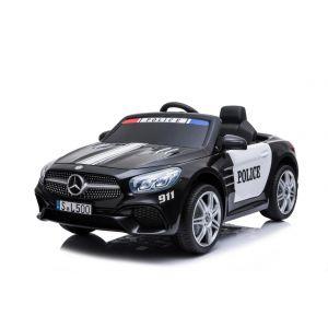 Mercedes elektrische kinderauto politie SL500 zwart