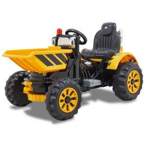 Kijana elektrische tractor met bak geel