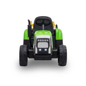 Kijana elektrische kindertractor met aanhanger groen