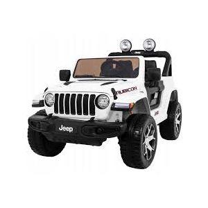 Jeep kinderauto Wrangler zwart vooraanzicht deuren-open grill