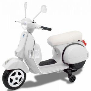 Vespa kinderscooter wit zijaanzicht voorkant