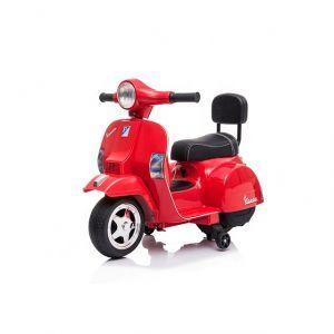 Mini vespa elektrische kinderscooter rood