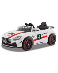 Mercedes elektrische kinderauto GT4 wit