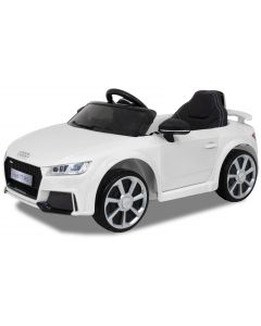 Audi elektrische kinderauto TT RS wit