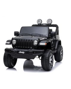 Jeep elektrische kinderauto Wrangler rubicon zwart