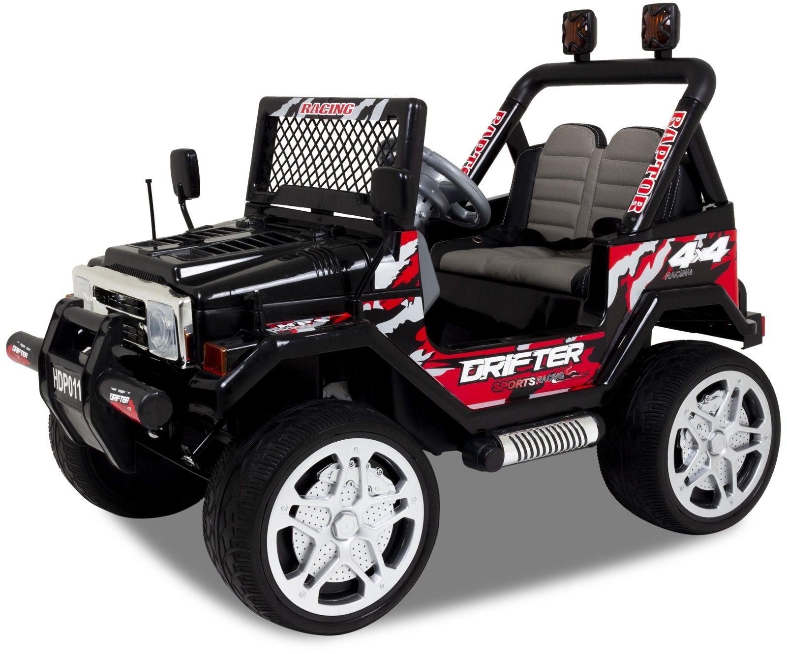 Jeep elektrische kinderauto zwart