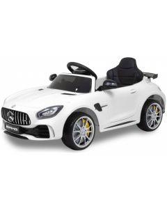 Mercedes elektrische kinderauto GTR AMG wit