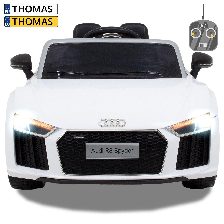 Afbeelding van Audi kinderauto R8 Cabrio wit