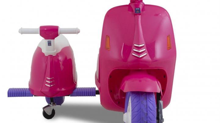 Elektrische kinderscooter vespa roze