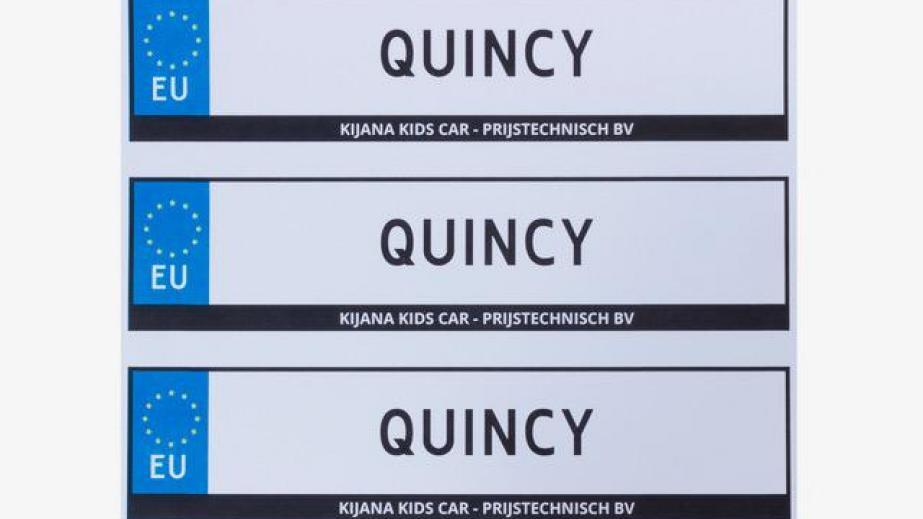 nummerbord elektrische kinderauto
